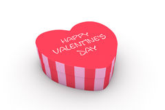 Valentine's day heart shaped box Royalty Free Stock Images