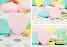 Valentine's Day Heart Shaped Candy Stock Photo