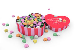 Valentine's day heart shaped candy box Stock Photo