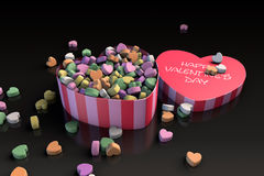 Valentine's day heart shaped candy box Stock Photos