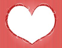 Valentine's Day Heart Shaped Frame royalty free stock photos
