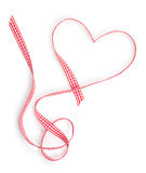 Valentine's Day heart shaped red ribbon Royalty Free Stock Photo