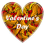 Valentine's day heart with spurts of flame. Stock Photography