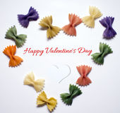 Valentine's Day.Heart on white background. Postcard Royalty Free Stock Image