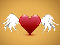Valentine's day heart with wings Royalty Free Stock Photography