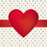 Valentine's Day hearth card. Valentine's Day hearth poster card design. isolated from background Vector Illustration