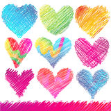 Valentine's Day Hearts. Design set: Colorful Valentine's Day Hearts Royalty Free Stock Image