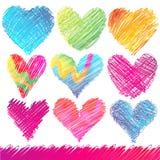 Valentine's Day Hearts Stock Illustration