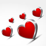 Valentine's Day hearts Royalty Free Stock Photos