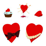 Valentine's Day hearts. Vector eps royalty free illustration