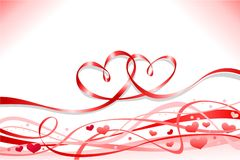 Valentine`s day hearts Stock Images