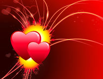 Valentine's Day Hearts on Abstract Light Background.  Royalty Free Stock Photography