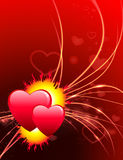 Valentine's Day Hearts on Abstract Light Background.  Stock Images