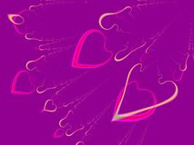 Valentine's Day Hearts Background Stock Image