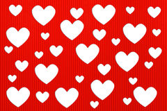Valentine's day hearts background. With Corrugated paper craft on white background Stock Images