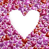 Valentine`s day hearts background. 3d render Royalty Free Stock Photo