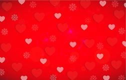 Valentine s Day Hearts Background Pattern with red and white hears. A reddish background pattern featuring a variety of bright red and white  Valentine hearts Royalty Free Stock Photography