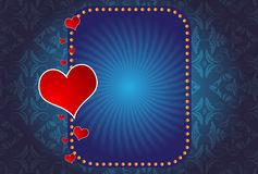 A Valentine's Day Hearts and banner Royalty Free Stock Images