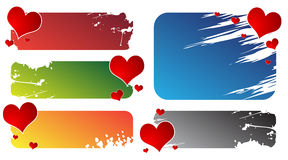 A Valentine's Day Hearts and banners Royalty Free Stock Photo
