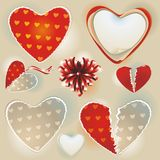 Valentine's day hearts Collection. Royalty Free Stock Images