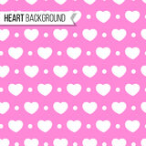 Valentine`s day hearts and dots on soft pink background, seamless pattern. Vector illustration. Romantic texture design. Valentine`s day hearts and dots on soft Royalty Free Stock Photo