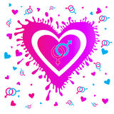 Valentine`s Day hearts EPS 10 Royalty Free Stock Image