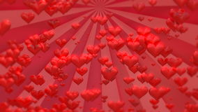 Valentine`s day hearts footage. Valentine`s day red footage background stock video