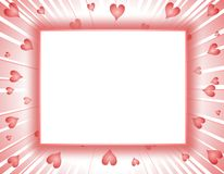 Valentine's Day Hearts Frame or Border Royalty Free Stock Images
