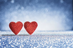 Valentine`s Day Hearts greeting cards Royalty Free Stock Photography