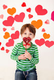 Valentine's Day Hearts and Kids Fun Royalty Free Stock Image