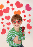 Valentine's Day Hearts and Kids Fun Royalty Free Stock Photos