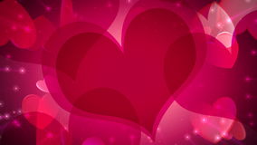 Valentine's Day Hearts of Love stock footage