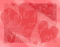 Valentine's Day Hearts Love Writings Card Stock Images