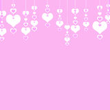 Valentine's Day Hearts on a pink background . The concept of lov Royalty Free Stock Image