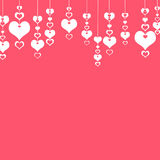 Valentine's Day Hearts on a pink background . The concept of lov Royalty Free Stock Images