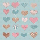 Valentine's Day Hearts Retro Sketchy Doodles. Valentine's Day Hearts  Retro Sketchy Doodles Stock Photo