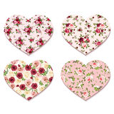 Valentine's day hearts with roses patterns. Vector eps-10. Stock Images