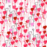 Valentine's Day hearts seamless pattern background Stock Photos