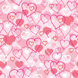 Valentine's Day hearts seamless pattern background Royalty Free Stock Photography