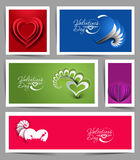 Valentine's Day Hearts. Set of Valentine's Day Hearts Banner, eps10 vector Royalty Free Stock Photo