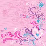 Valentine's Day Hearts Sketchy Doodles Vector Stock Photo