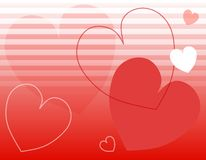 Valentine's Day Hearts Stripes Background Stock Photography