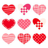 Valentine's day hearts. Vector eps-10. Royalty Free Stock Image