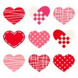 Valentine's day hearts. Vector eps-10. stock illustration