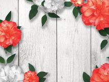 Free Valentine`s Day Holiday Red And White Roses Floral Border Royalty Free Stock Photo - 136564985