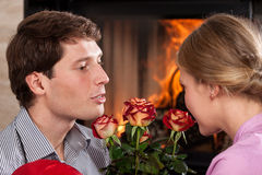 Valentine's day at home Royalty Free Stock Image