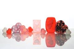 Valentine's day homemade soap bars Stock Image