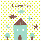 valentine's day(house) Stock Photography