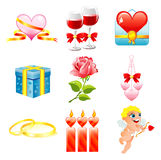 Valentine,s day icon Stock Images