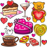 Valentine's Day icon set Royalty Free Stock Photos